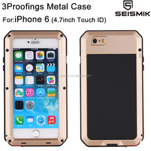 Unbreakable Waterproof Aluminium Cell Phone Case for iPhone 6