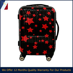 2015 carry-on red star PC ABS children travel carry-on luggage for USA,India,Euro market