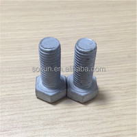 low carbon steel din933 bolt grade 4.6 galvanized