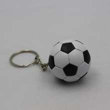 hot sale products cheap price large stock football shape 3d keychain