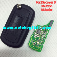 MS 3 button remote control 315mhz flip key with ID 46 chip for land rover discover 3
