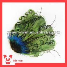dark green feather fascinator headband