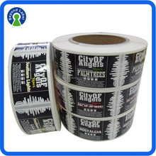 Manufacturing customized label for e-liquid bottle, full color adhesive e liquid bottle label