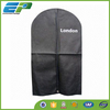 Black mens suit cover with customized logo