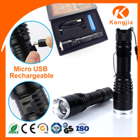 Wholesale Aluminum Zoomable High Power Rechargeable Emergency Best Led Flashlight Torch