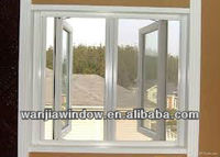 Wanjia casement aluminium windows white powder coating