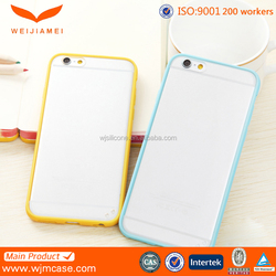 transparent silicone phone case hard back pc case for iphone 6s cover