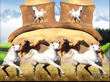 Horses Bed Quilt/Doona/Duvet Cover Set New 100%Cotton Bedding Sets