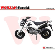 Race Bike (150cc) Wonjan-Suzuki engine, Motorcycle, , Motorbike, Autocycle,Gas or Diesel Motorcycle (WJ150-18 WHITE & BLACK)