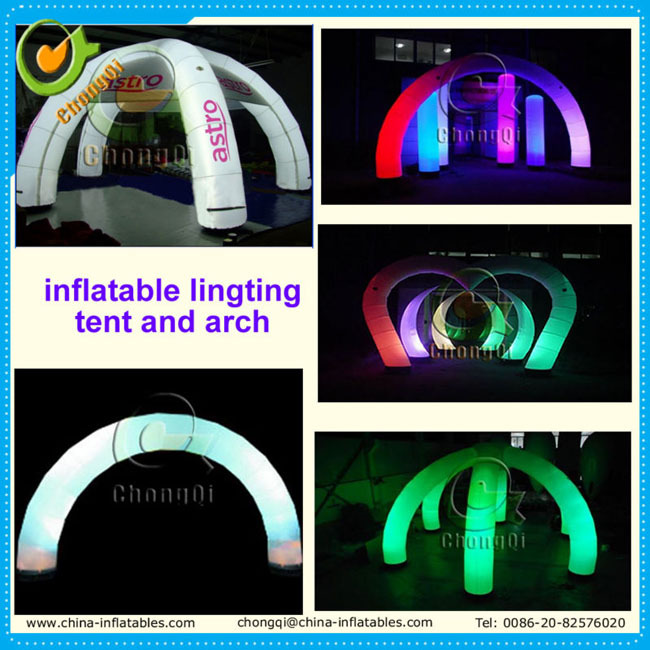 Fashion inflatable arch , inflatable lighting arch , inflatable entrance arch