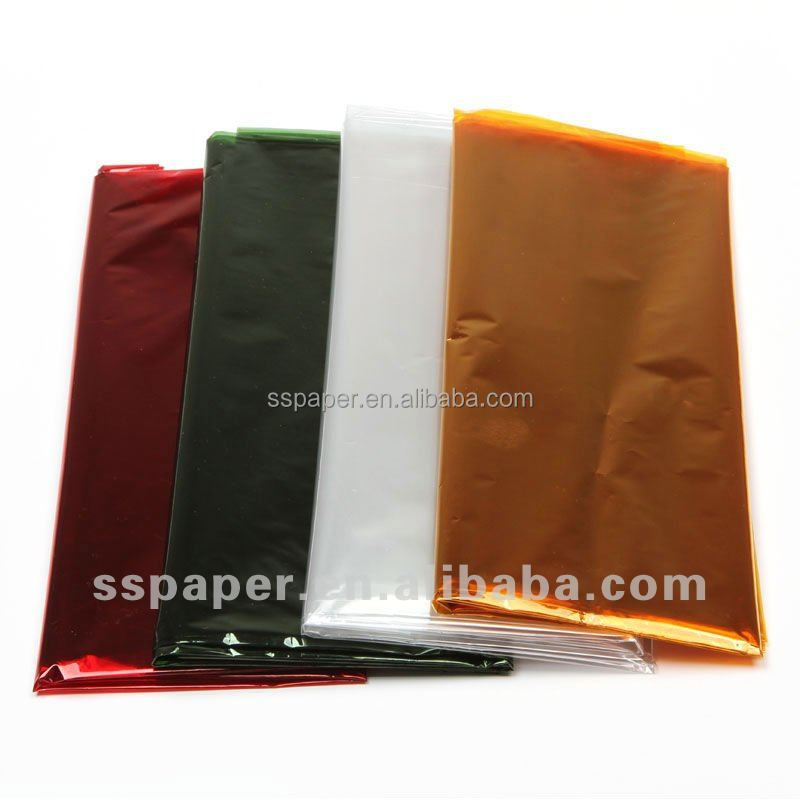 colored paper gift wrapping paper cellophane wrap