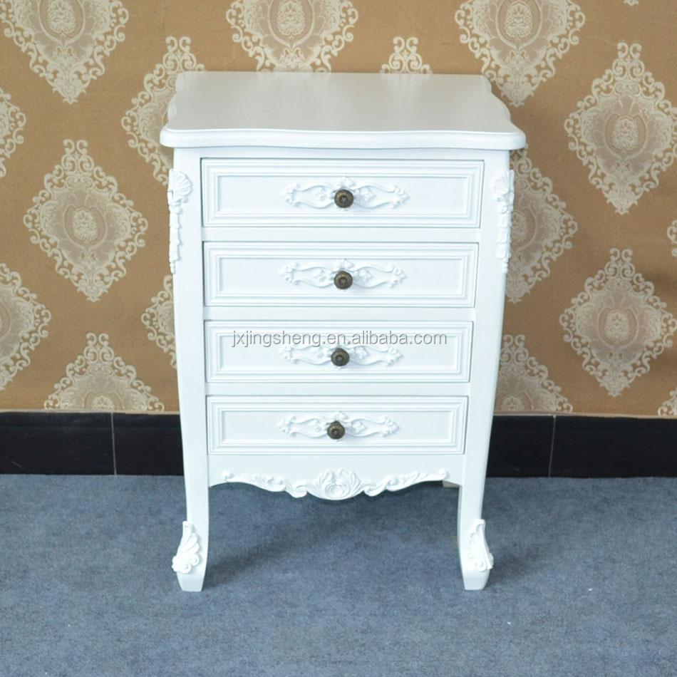 Nieuw design witte eiken meubelen woonkamer kast met 4 laden ...