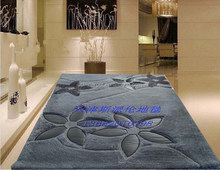 colourful series gray flowers pattern leather and 100% polyester design, hotel, bedroom, decorative carpet