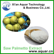 Supplying Saw palmatto for hair lose pharmaceutical grade saw palmetto extract 65%