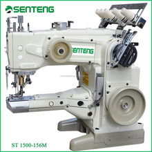 1500 -156M 3 needle five thread interlock sewing machinery, high speed feed-up-the-arm flat lock industrial sewing machine price