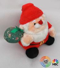 Plush new musical santa claus stuffed christmas decoration toy