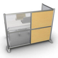 used aluminium glass office workstation partition