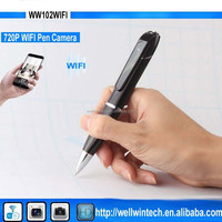 New Smallest P2P wifi wireless Pen camera 720P HD recording hidden video Pen camcorder with WIFI