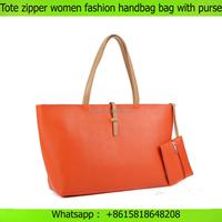 Leisure ladies handbag Tote zipper women fashion purses and handbags