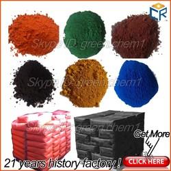 Factory price fine powder iron oxide pigment color pure black pigment wood mulch/mix asphalt(free sample)