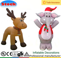 DJ-TL-031 4 ft inflatable mascot elephants and reindeer outdoor decorations