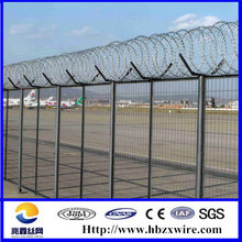 High Quality Airport Fence,High strengthen and security defense airport fence with Y type post(factory)Anping,China