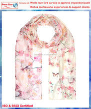 Print with cherry blossom womens fashion scarves,Hand Painted Cashmere Scarf,silk scarves for women