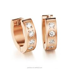 fashionable jewelry 2016 cz stone zinc alloy 24k gold hoop earrings huggie hoop earrings huggie earrings for women