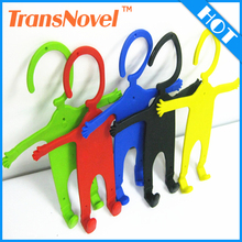 China manufacture human shape silicone wall mount cell phone holder for charging