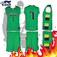 sample basketball uniform design green