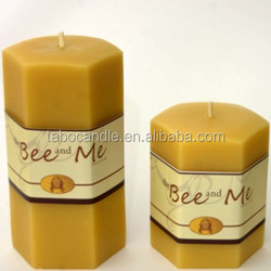 yellow pillar honey bee wax/ natural scented candle bee wax health product wholesale