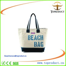 Canvas Tote Beach Bag Canvas Tote Bags With Leather Handles