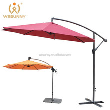 2015 Hot Sale big patio outdoor aluminum cantilever waterproof garden line umbrella