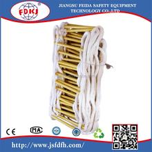 CE certificatedHigh quality soft yatch climbing rope ladders