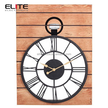 wood metal antique world time zone big luxury wall clocks