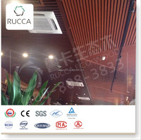 Hot! Foshan Rucca WPC Plastic Wood Approved China Pop Interior Ceiling Design for Sale,Coffee Room40x25MM