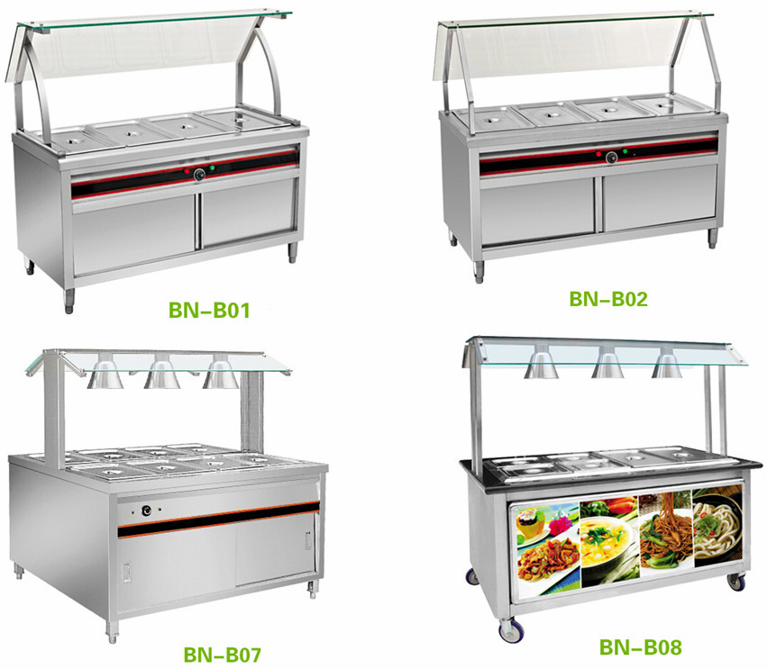 Mobile Food Warmers ~ Stainless steel mobile food warmer trolley carts view