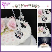 Butterfly Shape Sparkle Hanging Drops Wedding Cake Topper