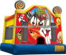 Funny cartoon castle bounce house