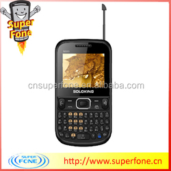 Newest 2.2 inch cheap gsm qwerty unlocked dual sim mobiles phones S3332 support TV from china