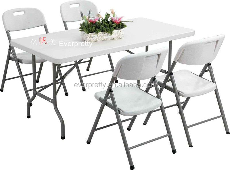 Outdoor Furniture Folding Table And Chair White Plastic Table And Chairs Ou