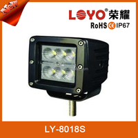 Guangzhou factory wholesale 12V led work light with cover for atv suv cars trucks offroad 18w ip67 led work light