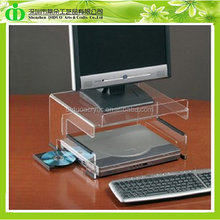 DDI-M0019 Clear Acrylic Computer Monitor Stand, Luxury Multi Laptop Stand