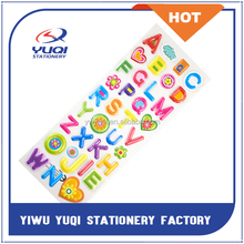 A B C Words Cheap Sticker / Puffy Sticker / PVC Sticker