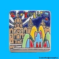 TOURIST SOUVENIR Ceramic FRIDGE MAGNET