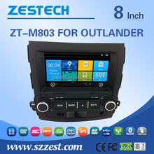 car parts for mitsubishi outlander car stereos with bluetooth 3G radio China factory