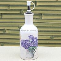 Decorative Ceramic Oil And Vinegar Cruet Bottles