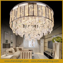 traditional elegant style round shape crystal lamp & pendant chandelier for ceiling Decoration with 2 years warrant