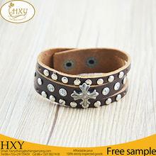 Hot Sale Top Quality Best Price Plain Black Leather Bracelet