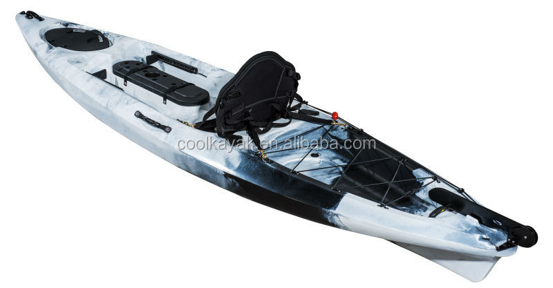 3 4m length no inflatable cheap tandem lldpe fishing kayak for Tandem fishing kayak for sale